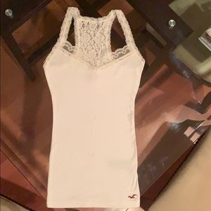 white tank top lace straps holister